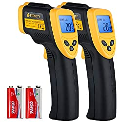 Etekcity Lasergrip 774 Non Contact Digital Laser Infrared Thermometer Temperature Gun 58℉ 716℉ 50℃ 380℃ Yellow And Black 2 Pack