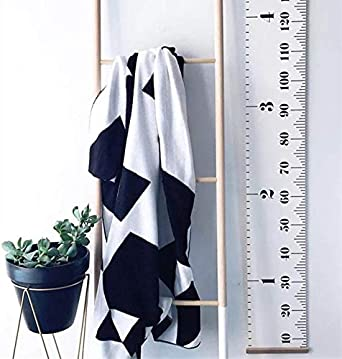 200cm Namgiy Kids Growth Chart Removable Roll-up Wall Hanging Decor Canvas Height Measurement Ruler for Nursery Bedroom Green 20