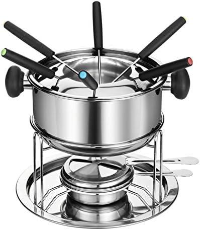 Dowan Sh081 Stainless Steel Fondue Pot Set Kitchen Dining