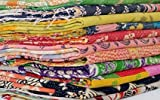 10 Pieces Whole Sale Lot of Indian Tribal Kantha Quilts Vintage Cotton Bed Cover Throw Old Sari Made Assorted Patches Made Rally Blanket