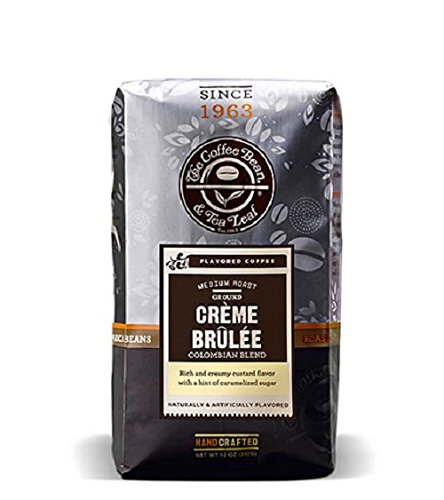 Sugar Free Sweet Coffee (The Coffee Bean & Tea Leaf, Hand-Roasted Creme Brulee Ground Coffee, 12-Ounce Bags (Pack of 2))