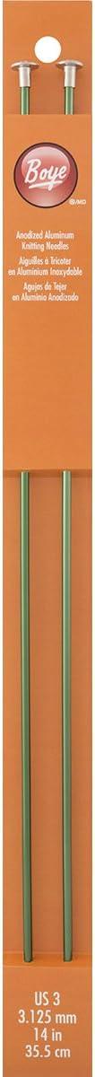 Boye 14-Inch Aluminum Single Point Knitting Needles Size 3