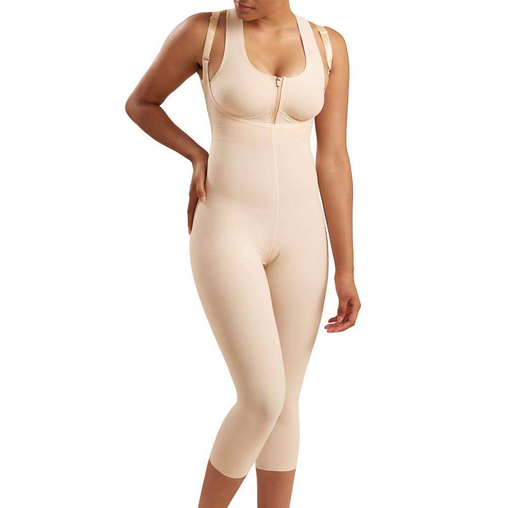 Marena Recovery Mid-Calf-Length Girdle, Step 2 (pull on), Beige, 2XL