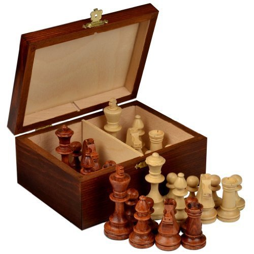 Wegiel Handmade European Professional Tournament Chess Pieces With Wood Storage Case (Glass Pieces Sale For Chess)