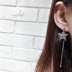 JD Million shop 2017 Korean Simple Personality Geometry Earrings Star Triangle Sequins Hollow Circle Boucle D'oreille Femme Pendante