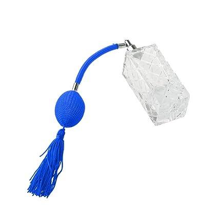 35ml Antiguos Botella de Cristal de Perfume Atomizador Spray Dama - Azul