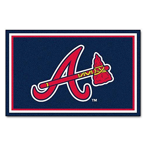 Braves Rug - FANMATS MLB Atlanta Braves Nylon Face 4X6 Plush Rug