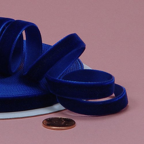 Royal Blue Velvet Ribbon, 3/8