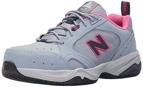 New Balance Womens WID627V1 Steel Toe Training Work Shoe, Light Grey/pink, 36 2E EU/3.5 2E UK