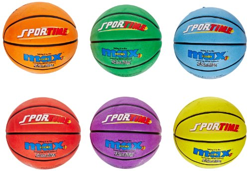 SportimeMax Mens Basketballs, 29-1/2 Inches, Multiple Colors, Set of 6