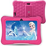Dragon Touch Y88X Plus 7 inch Kids Tablet, Kidoz Pre-Installed Disney Content (More Than $80 Value) (Android 6.0 OS) Pink