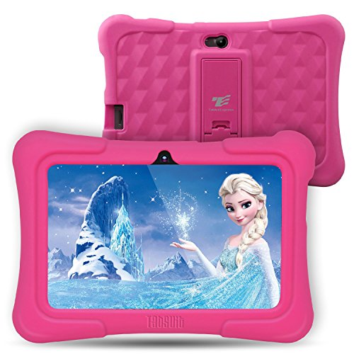 Dragon Touch Y88X Plus 7 inch Kids Tablet, Kidoz Pre-Installed Disney Content (More Than $80 Value) Pink (Best Tablet For Five Year Old)