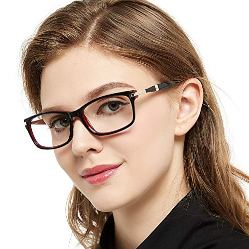 481a10d86 ... OCCI CHIARI Women Fashion Rectangular Optical Eyewear Frame with Clear  Lenses(55mm,Black/ ...
