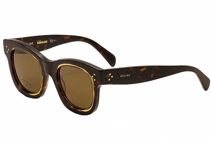 c5341a0cbb77 Image Unavailable. Image not available for. Colour  Céline HELEN CL 41397 S DARK  HAVANA HONEY BROWN women Sunglasses