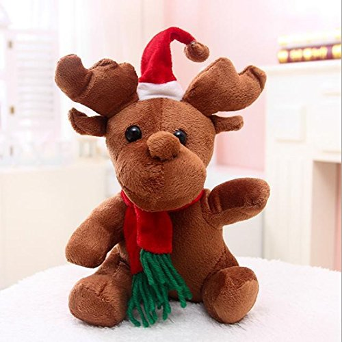 PEPCO SIMBA Reindeer Stuffed Plush Musical Activity Toy 8 inch Christmas Reindeer Favors (Boys Rubber Ducky Costume)