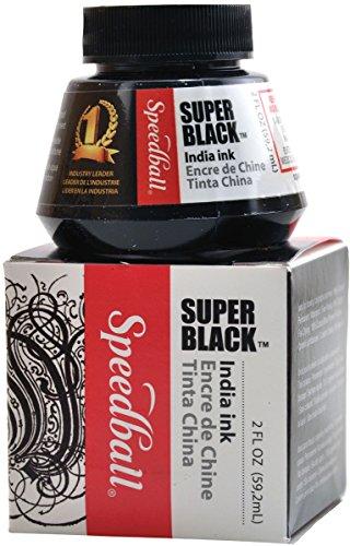 (Speedball 2-Ounce India Ink, Super Black)