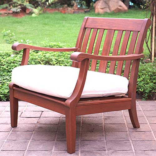 Cambridge-Casual 812120 Como Lounge Chairs with Seat Cushions (2 Pack), Medium Brown