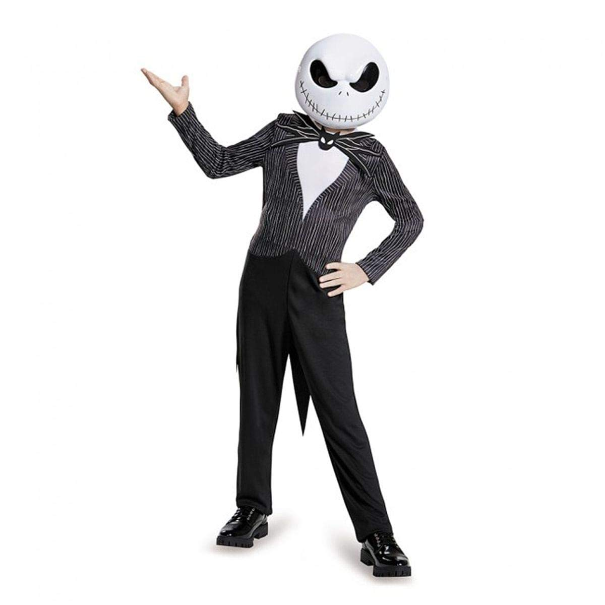 Large//10-12 Disguise Costumes Jack Skellington Child Classic Nightmare Before Christmas Disney Costume
