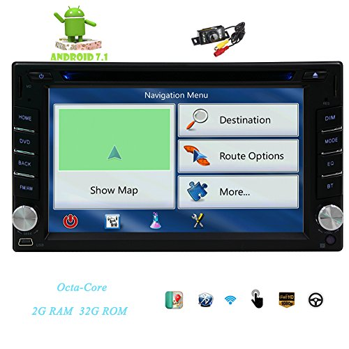- EinCar Free Camera + 2din GPS Car DVD Player Octa-core Android 7.1 Stereo Dash HD 6.2'' Capacitive Multi-Touchscreen 1080P 1024600 GPS Navigation Bluetooth Head Unit Support WiFi 4G OBD USB/SD SWC