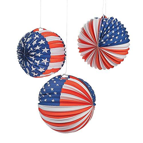 Patriotic Balloon Lanterns 6 Pack
