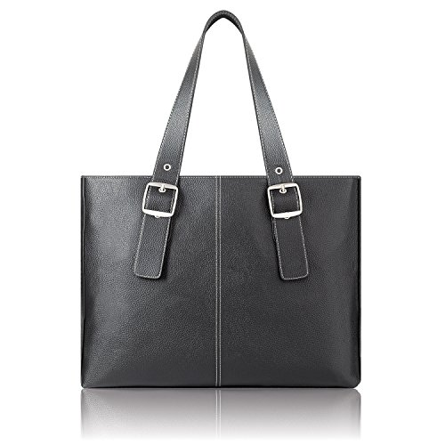Solo Plaza 15.6 Inch Laptop Tote, Black by SOLO