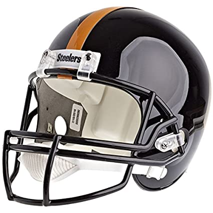 7bb8bc00 Image Unavailable. Image not available for. Color: Pittsburgh Steelers  Officially Licensed VSR4 Full Size Replica Football Helmet