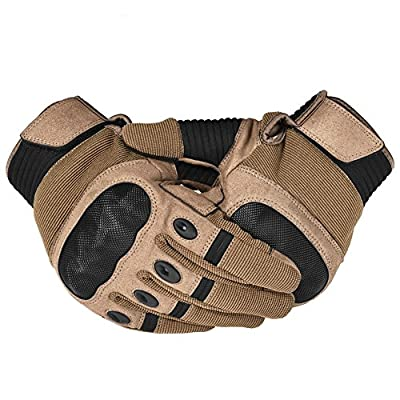 Army Military Hard Knuckle Tactical Combat Gloves Motorcycle Motorbike ATV Riding Full Finger Gloves for Men Airsoft Paintball Sport Biker