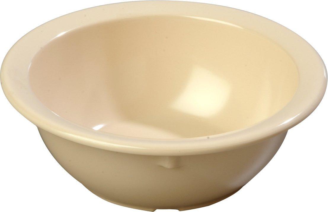 Carlisle KL11925 Kingline Melamine Rimmed Nappie Bowl, 12.50 fl. oz. Capacity, 5-23/32'' Dia. x 1.99'' H, Tan (Case of 48)