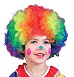 Fun World Kids Girl Boy Rainbow Clown Wig, Costume Party Accessory