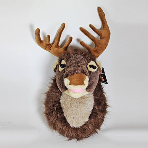 Motion Activated Singing Reindeer Head 40cm - Christmas Decorations