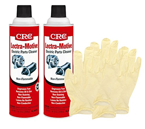 CRC Lectra-Motive Electric Parts Cleaner (19 Wt Oz) Bundle with Latex Gloves (6 Items)