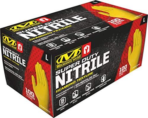 Mechanix Wear - Nitrile Disposable Gloves - Powder Free, Latex Free, Diamond Textured - 8 mil Yellow (Large, 100 Pack) by Mechanix Wear (Image #6)