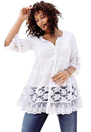 Womens-Plus-Size-Illusion-Lace-Tunic