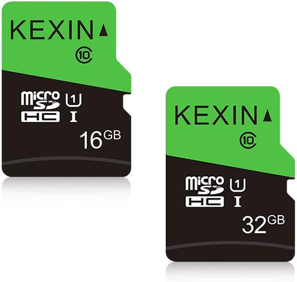 KEXIN 16GB and 32GB Micro SD Card MicroSDHC UHS-I Memory Cards Class 10 High Speed Card, C10, U1