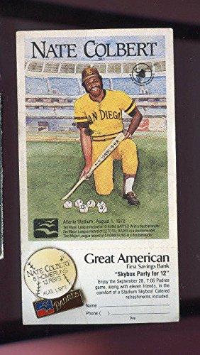 1987 Nate Colbert 1972 San Diego Padres Baseball Pin Great American Savings (1972 San Diego Padres)