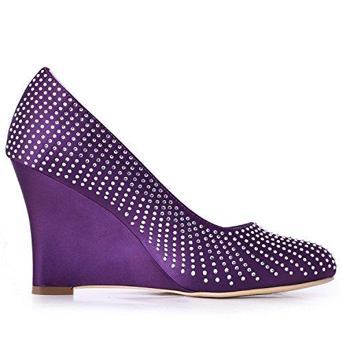Minitoo , Chaussures de mariage tendance femme - violet - Purple-9cm Heel,