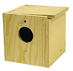 North American Pet Finch Nesting Box - Inside and Outside Mounting
