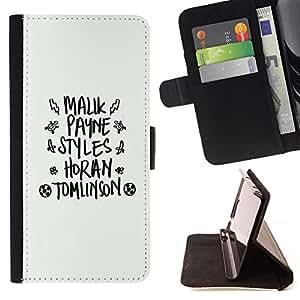- white black god fashion text abstract - - Prima caja de la PU billetera de cuero con ranuras para tarjetas, efectivo desmontable correa para l Funny HouseFOR Samsung Galaxy S4 Mini i9190