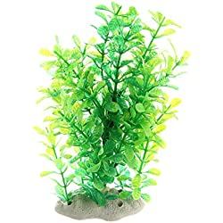 SODIAL Green Fake Plastic Water Plants for Fish Tank Aquarium Ornament