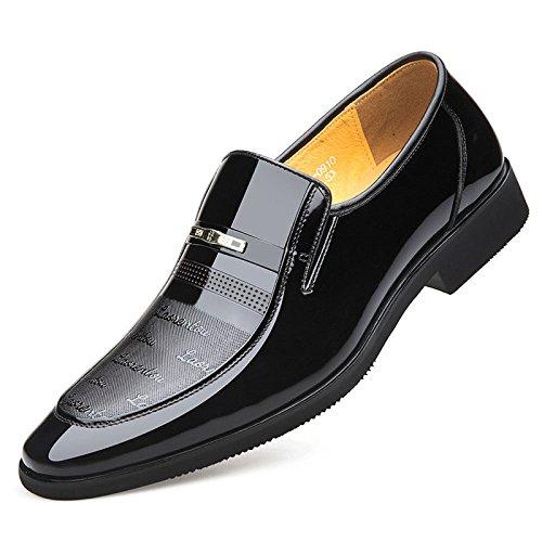 bc41ea2fc4828 pour en LEDLFIE Hommes Noir Cuir Chaussures 0gwCx  strikeout.penis ...