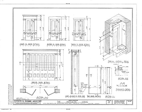 Historic Pictoric Blueprint Diagram HABS MO,54-LEX,1- (Sheet 10 of 14) - Colonel William Oliver Anderson House, Civil War Battle of Lexington State Park, Lexington, Lafayette County, MO 14in x 11in