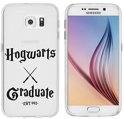 Samsung S6 Caso por licaso® para el patrón de Samsung S6 TPU Hogwarts Graduate HP Estudiante Brujeria de silicona ultra-delgada proteger su Samsung S6 es elegante y cubierta regalo de coches HG