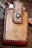 3D Genuine Leather Brown Western Smartphone iPhone 5, 6 Holder Case 27PH644
