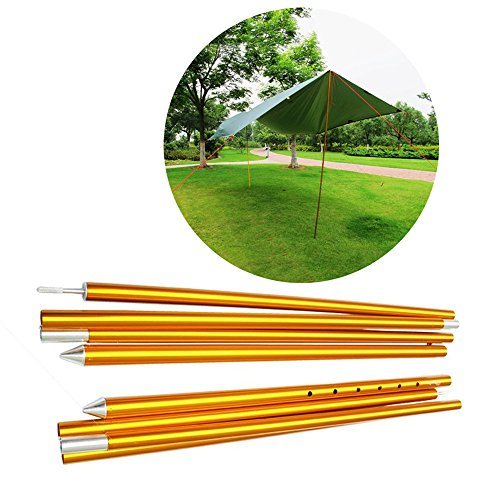 HYOUT Adjustable Tarp Poles Aluminium (Adjustable Shelter Pole)