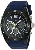 U.S. Polo Assn. Sport Men's Quartz Metal and Rubber Casual Watch, Color:Blue (Model: US9540)