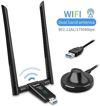 Techkey® Wifi Antenna USB 2.0 Wifi Adapter Wifi Usb Ethernet TECHKEY 150Mbps