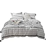 Children Herringbone Arrows Printed Bedding Duvet Cover Sets Teens Adults Queen/Full Brushed Microfiber Reversible Geometric Pattern Bedding Comforter Cover Sets,Breathable, Lightweight, Durable