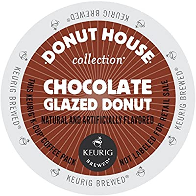 Donut House Collection Chocolate Glazed Donut Coffee, K-Cup Portion Pack for Keurig Brewers (24 Count)