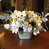Magnolia Floral Arrangement, French Country Centerpiece, Magnolia Centerpiece, French Country Floral Design