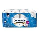 Cottonelle Ultra CleanCare Toilet Paper, Strong Bath Tissue, 24 Double Rolls